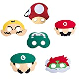 HONGTEYA Super Mario Bros Kinder Maske 6Pcs Cosplay Party Masken für Kinder Jungen Mädchen Geburtstagsfeier Dekoration Halloween Dress Up Favor Geschenke