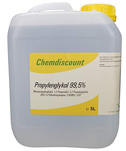 5Liter Propylenglykol 99,5{2d08b0ffa5327b4b570ee4461940ee8f5106a6a2fc9a1eafd10cafd0bed719ba} in Pharmaqualität USP, versandkostenfrei, PG