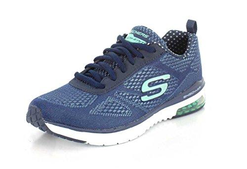 Skechers Skech-air Infinity Zapatillas de deporte exterior Mujer, Azul (Navy/aqua), 36 EU