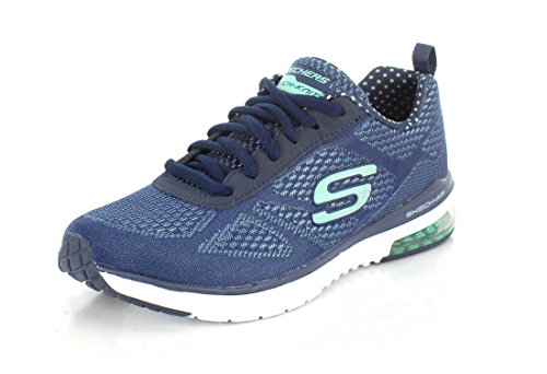 Skechers Skech-air Infinity, Damen Outdoor Fitnessschuhe, Blau (Navy/aqua), 36 EU