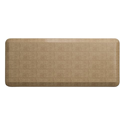 "NewLife by GelPro Anti-Fatigue Designer Comfort Kitchen Floor Mat, 20x48"", Pebble Wheat Stain Resistant Surface with 3/4"" Thick Ergo-foam Core for Health and Wellness"