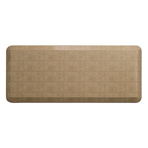 GelPro 106-11-2048-4 Ergo-Foam Anti-Fatigue Kitchen Floor Mat, 20'x48', Pebble Wheat