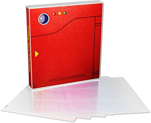 UniKeep Pokedex Style Trading Card Storage Album for The Pokemon Card Game with 25 Premium Platinum Series Trading Card Pages - Holds 450 Cards
