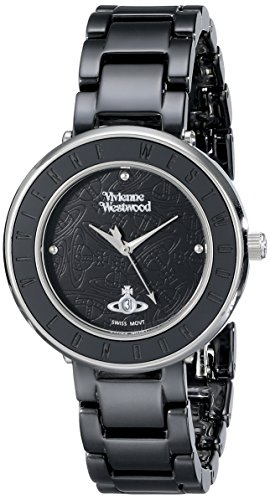 Vivienne Westwood Women's VV124BKBK Orb London Ceramic Watch