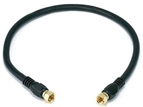 Monoprice RG6 Quad Shield CL2 Coaxial Cable with F Type Connector