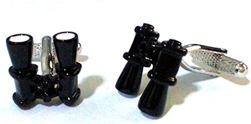 Onyx-Art London Jumelles Boutons de manchette dans une boîte cadeau CK 879 Bird Watching