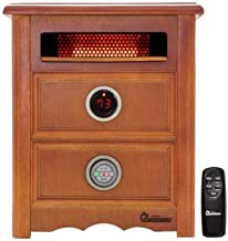Dr Infrared Heater DR999, 1500W, Advanced Dual Heating System with Nightstand Design, Furniture-Grade Cabinet, Remote Control