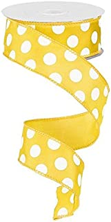 Best yellow and white polka dot ribbon Reviews