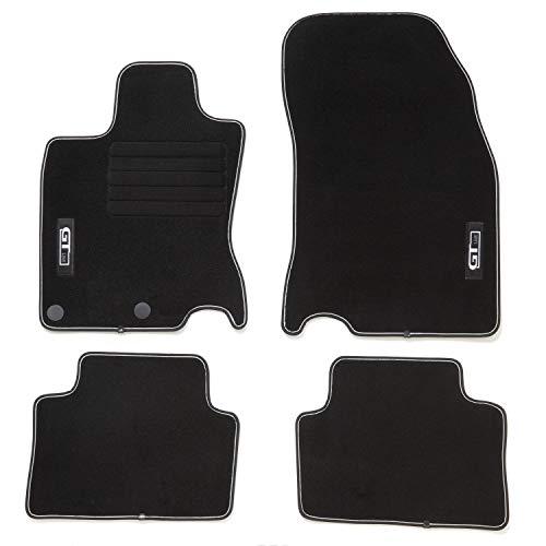 DBS 1766682 auto op maat gemaakte deurmat voor auto, 4-delig, hoogwaardig, antislip, velours coating, inspiratie