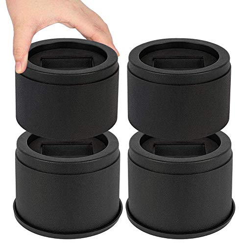 MEETWARM 3 Inch Round Bed Risers for Castor Wheels, Heavy Duty Stackable Furniture Riser Lifter for Dorm Couch Sofa Table, Set of 4