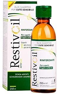 RestivOil Activplus Shampoo Rinforzante per Capelli, Olio Fisiologico con Azione Ricostituente e Riattivante, per Capelli ...