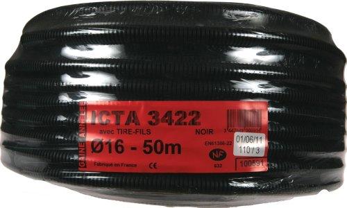 Janoplast JAN100591 - Tubo Corrugado para Cables (50 m, ICTA, 16 mm...