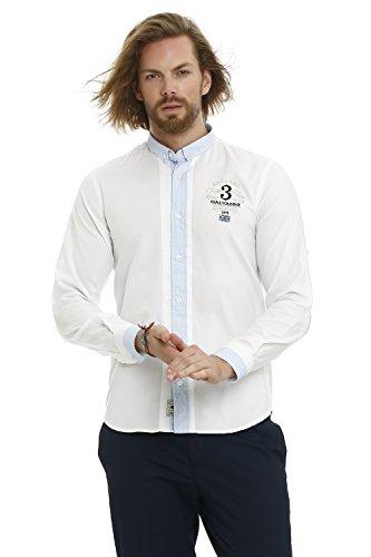 GALVANNI Koyukuk Camisa Casual, Blanco (White Multi 1022), XX-Large (Tamaño del Fabricante:XXL) para Hombre