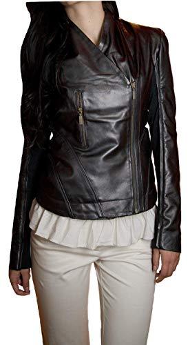 LeatherJacket4 Scarlett Johansson The Avengers Lederjacke - braun - 4X-Large