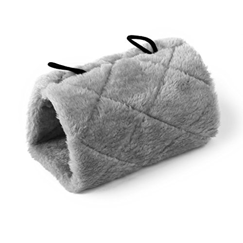 [ノーブランド商品] 3つ サイズハンモック鳥模擬床ドーム 床鳥 鳥全3色(グレー M)