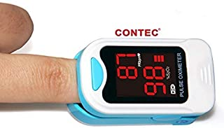 Fingertip Pulse Oximeter Blood Oxygen Saturation Monitor with lanyard and carrying case