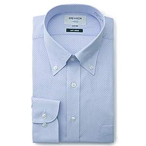 [オリヒカ] ドレスシャツ 抗ウィルス・制菌加工 形態安定シャツ メンズ ブルー(SYLB3117) LL