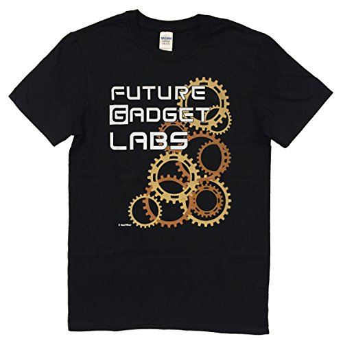 NaniWear Anime Steins;Gate Geek T-Shirt Future Gadget Lab Medium Black