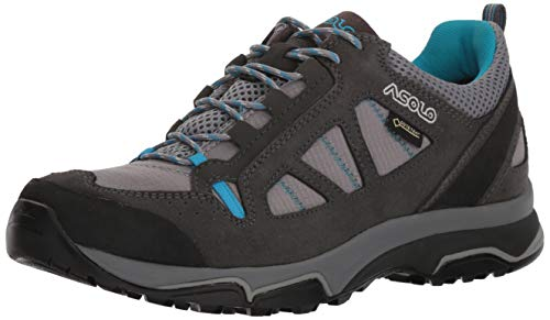 Asolo Women's Megaton GV Hiking Shoe Graphite Stone/Cyan Blue 8