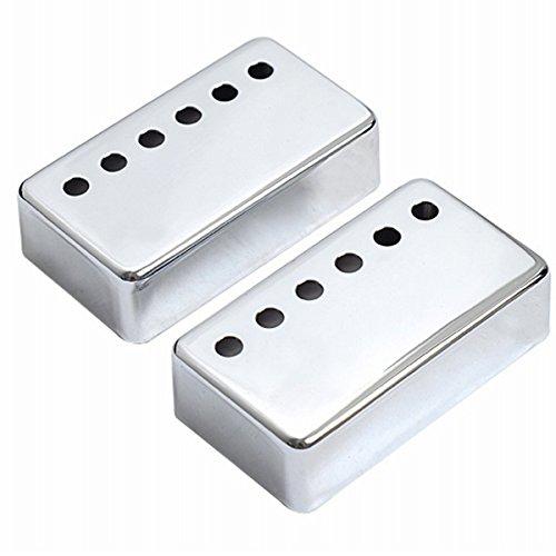 Musiclily 50mm Neck and 52mm Bridge Metal Guitar Humbucker Pickup Covers...