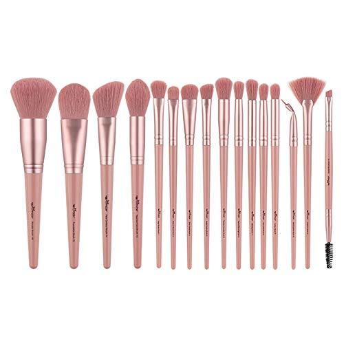 16 Pcs Maquillage Brosses Set Professionnel Maquillage Brosse Pour Fard À Paupières Fondation Poudre Eyeliner Cils Avec Cylindre