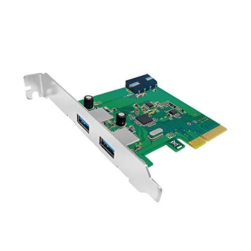 Unitek Y-7305 PCI-Express-Karte (2-Port-USB3.1 Xhci Host Controller) Schwarz