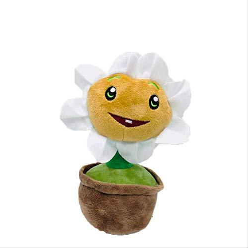 qwertt Plüschpuppe Spielzeug Blumentopf Pflanzen Vs Zombies Plüsch Gefüllte Weiche Sonnenblume Erbsen Spielzeug Baby Geschenk 21cm Ringelblume