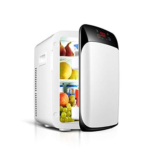 White 15 Liter Compact, Portable Cool Hot Dual Use Mini Refrigerator Mini Fridge for Skincare Breast Milk Foods Medications Bedroom and Travel