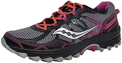 Saucony Women's Excursion TR11 Grey/Purple/Coral Running Shoe 7.5 M US
