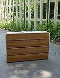 Table Table- Klapptisch Bambus-Oberfläche Aluminium-Legierung Faltbarer Einstellbare Höhe Tabelle...