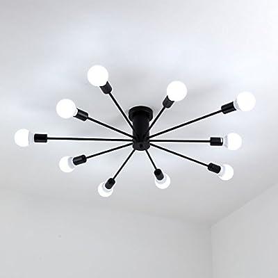 Aero Snail L1697 Modern Style Flush Mount Designers Metal 10-Light Ceiling Lamp Chandelier Lighting Fixure