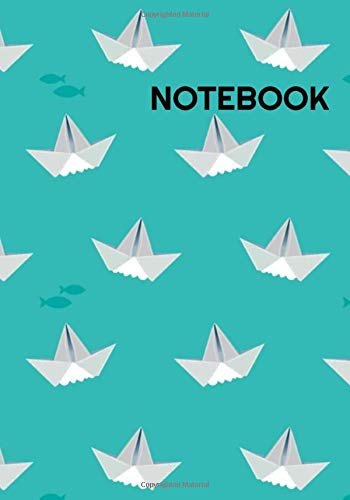 Notebook: Origami Paper Boat Journal