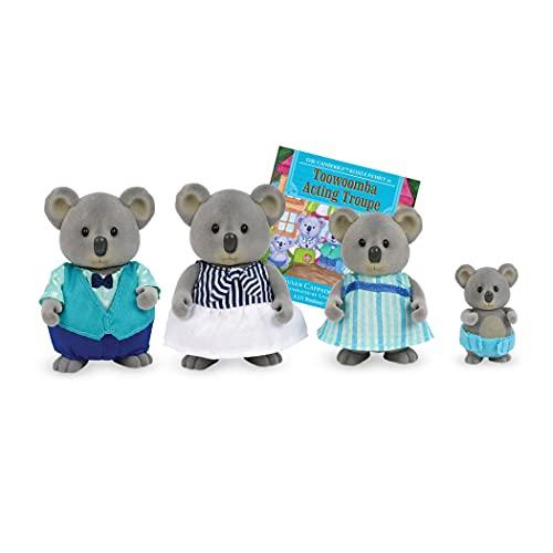 Li'l Woodzeez Koala Tierfamilie Canberra – 4 weiche Tierfiguren mit Bilderbuch auf Englisch – Spielzeug Tiere Set (5 Teile) Spielzeug für Kinder ab 3 Jahren