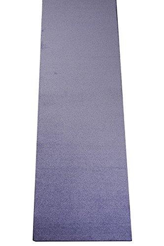 Havatex: Teppich Velour Läufer Burbon Weiß / Prüfsiegel: TÜV-geprüft / 100 % Polypropylen / in verschiedenen Größen erhältlich , Größe Auswählen:100 x 450 cm