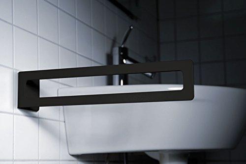 radius design - PURO Handtuchhalter schwarz Kleben