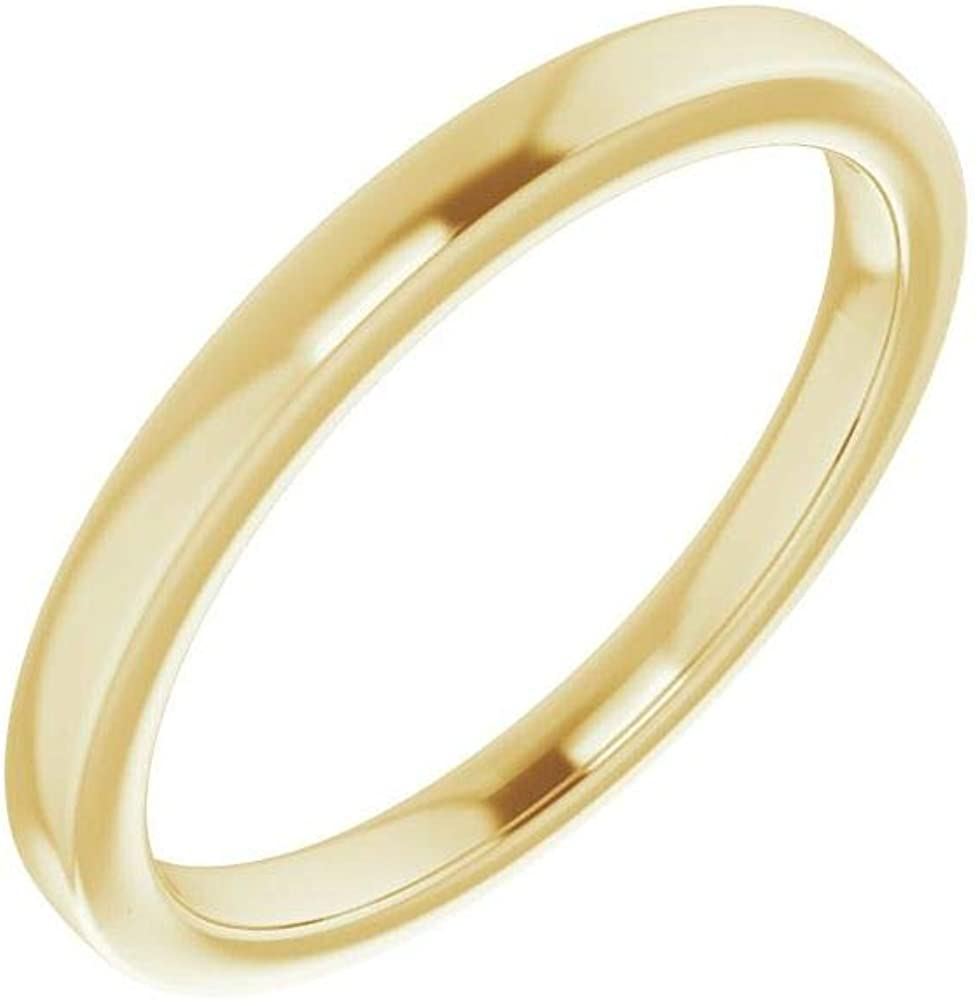 Direct store Solid 14K Yellow Max 59% OFF Gold Curved Notched Band Ma for Wedding 7x3.5mm