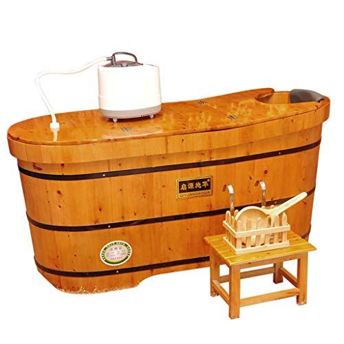 Bañera De Hidromasaje De Madera, Adulto Bañera De Hidromasaje, Hogar Completa La Tina De Baño, con La Tapa De Diseño, Salud Cubo (Size : 1m)