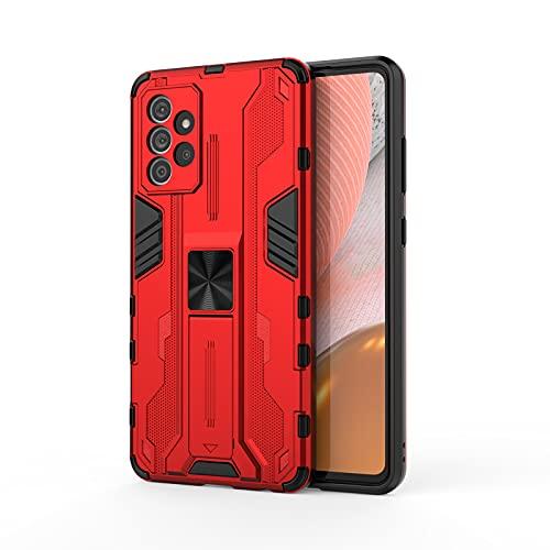 SOUFU para Xiaomi Redmi Note 10 Pro Funda Carcasa Tough Armor Robusta Armadura Híbrida TPU+PC Protector Interno TPU a Prueba de Golpes/Soporte Plegable -Rojo