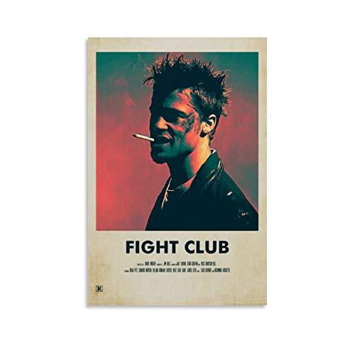 GHJH Fight Club 17 Peinture à l'huile sur toile vintage classique Movie TV Poster et impressions Décoration murale 30 x 45 cm
