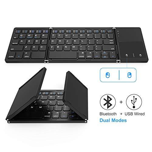 Foldable Bluetooth Keyboard, Dual M…