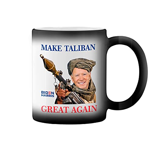 Make Taliban Great Again Biden Afganistan Taza de caf negro mgico Mug