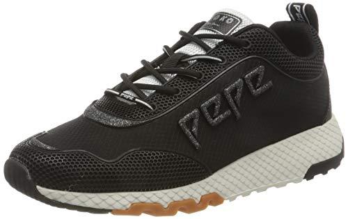 Pepe Jeans London Damen KOKO IVE20 Sneaker, 999BLACK, 41 EU