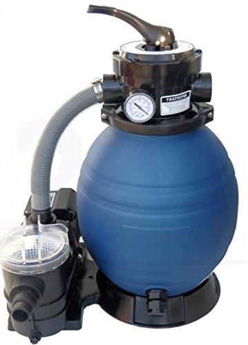 Profi Leis Sandfilteranlage 10 m ³ Sandfilter Pumpe 400 W Poolfilter Filter 25kg
