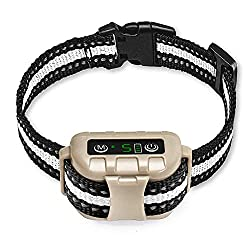 Bark Collar 2020 Newest Version No Bark Collar Rechargeable Anti bark Collar with Adjustable Sensitivity and Intensity