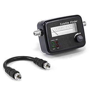CSL - Localizador de satélites con Escala - Aguja indicadora medidor con señal acústica - Apto para HD - medidor posicionamiento Ajuste óptimo de Antenas parabólicas