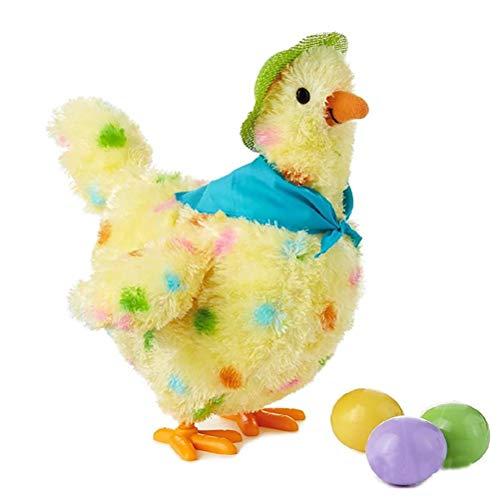WINBST Eierlegendes Huhn, Elektrisch Musical Tanzendehenne PlüSchtier Simulation Huhn Geschenke FüR Kinder