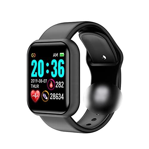 Smartwatch Fitness Tracker,Orologio Uomo Donna,Smartwatch Sportivo Contapassi,Impermeabile,Cardiofrequenzimetro da Polso,Activity Tracker per iPhone,Samsung,Huawei ecc (Nero)