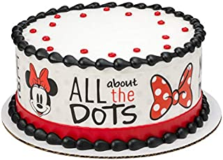Minnie Mouse Dots Edible Cake Border - Set of 3 Strips