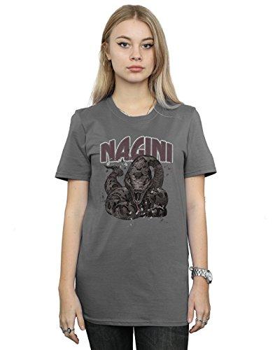 HARRY POTTER Mujer Nagini Splats Camiseta del Novio Fit Medium Carbón