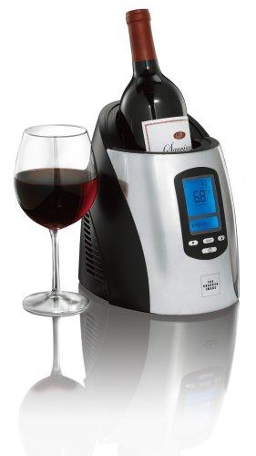 The Sharper Image Single Wine Chiller, Black